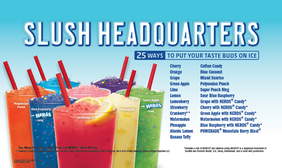 Slush Headquarters. 25 ways to put your taste buds on ice.